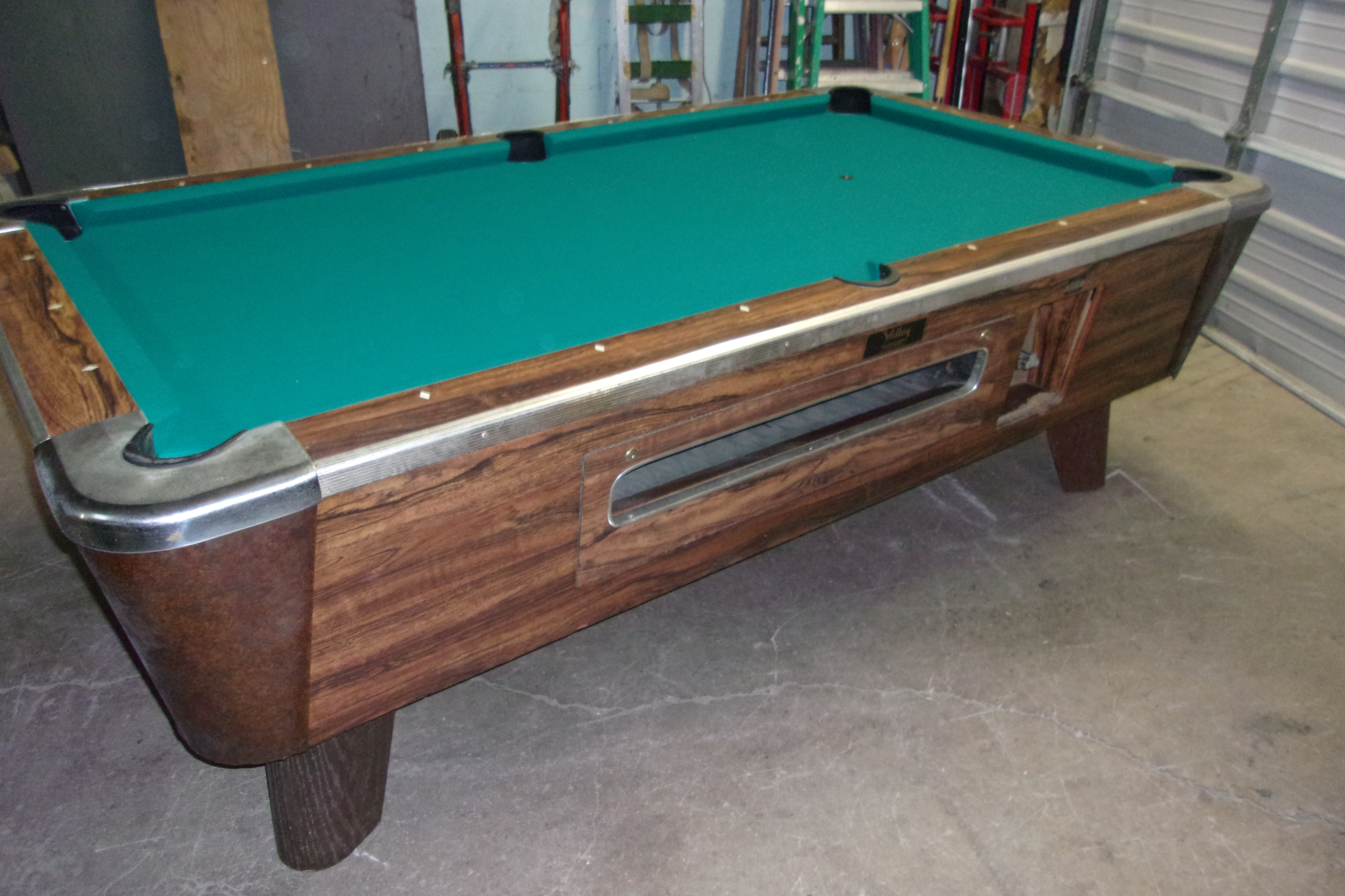 Valley Ft Coin Op Pool Table PT Thomas Games - Pool table description