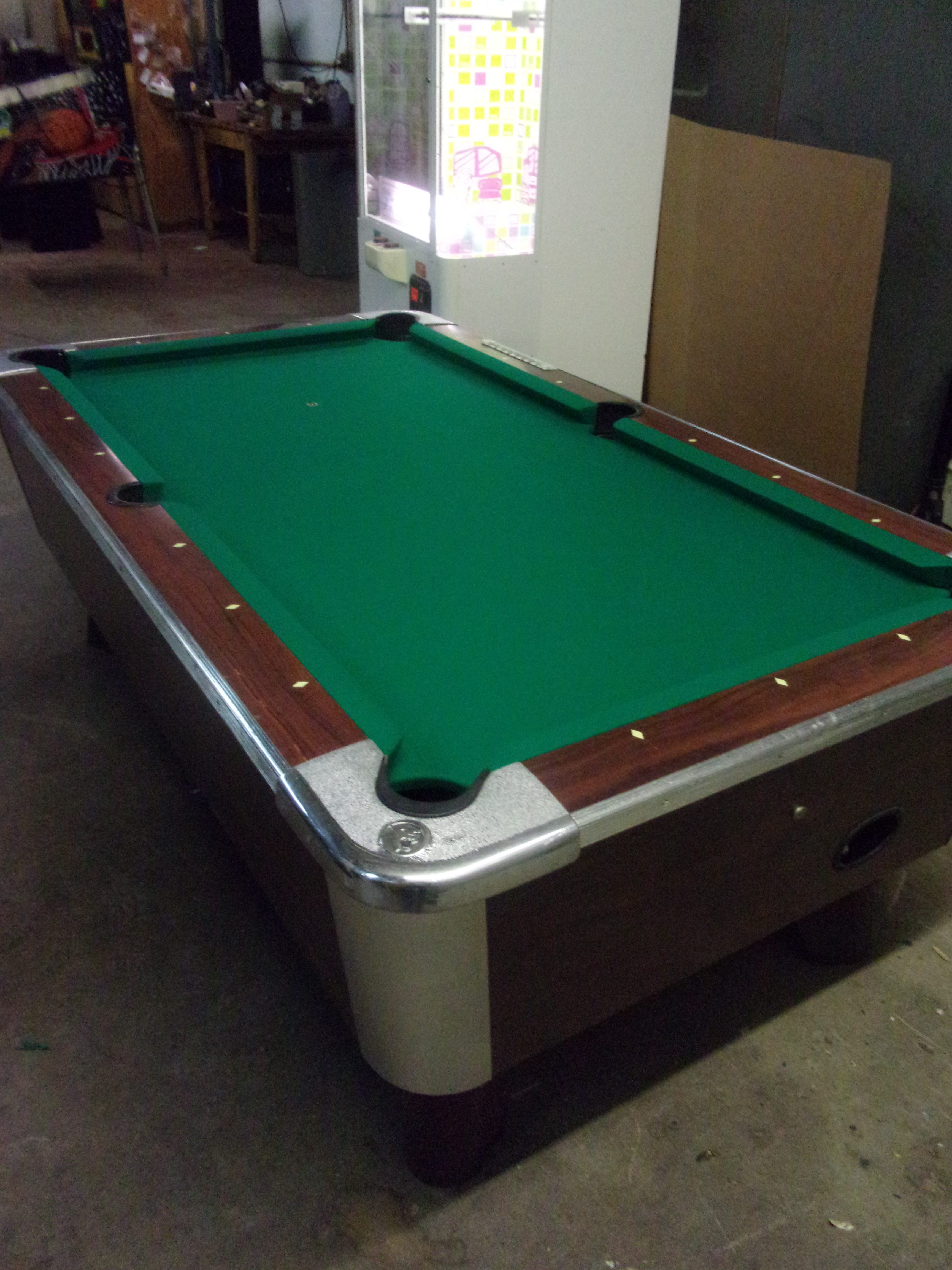 Valley Ft Coin Op Pool Table PT Thomas Games - 6 1 2 foot pool table